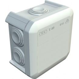 Расп. коробка T40, влагозащищенная, IP 55, 90x90x52 мм