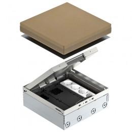 Лючок UDHome4 с модульной рамкой MT3, для индивидуальной комплектации, из нержавеющей стали